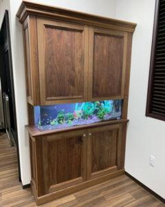 木製オーダー家具の水槽