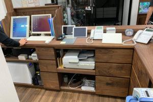 木製オーダー家具受付カウンター内側