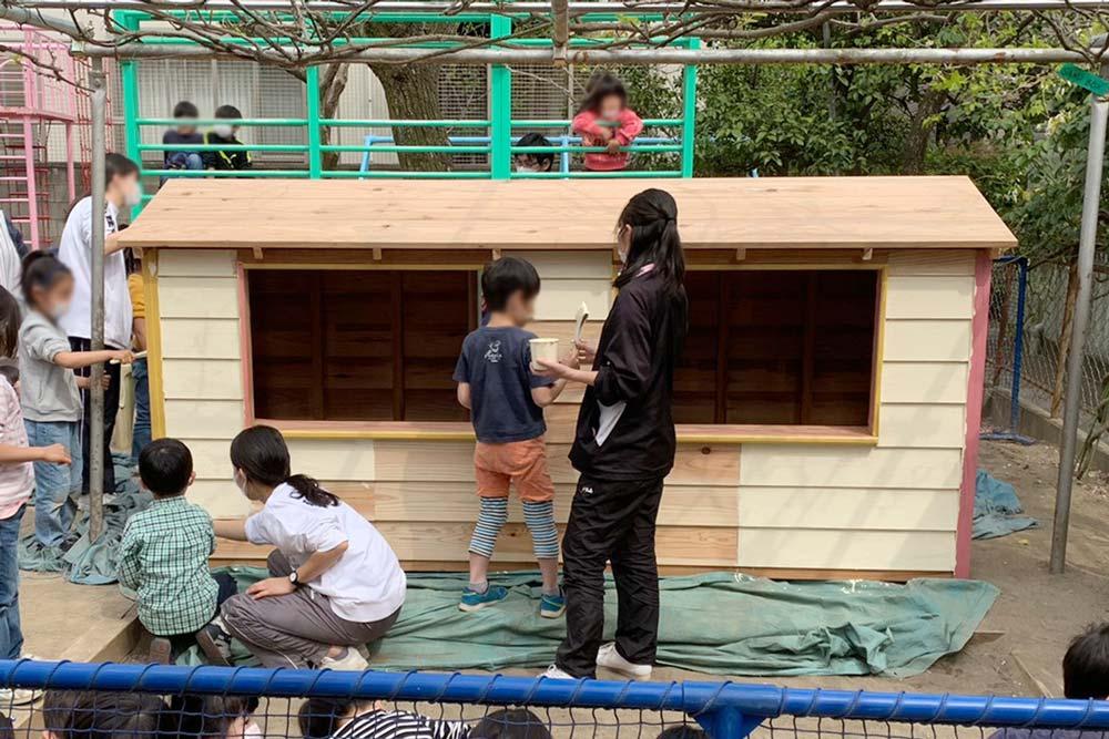 <p>園庭の木製遊具制作 さいたま市上小町 ひばり幼稚園様</p>