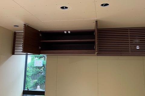 オーダーテレビボード上部の棚