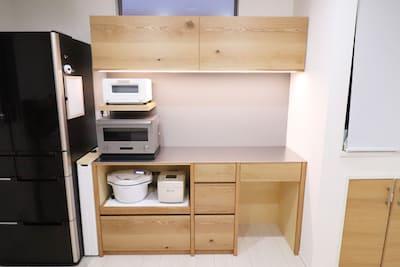 さいたま市の与野のご自宅にオーダーカップボード(食器棚)を設置してきました