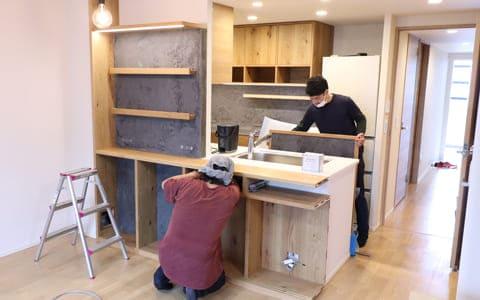 オーダーキッチンの納品・設置