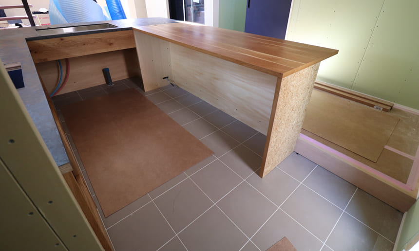 オーダーキッチンの設置
