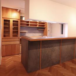 さいたま市浦和区のオーダー食器棚(カップボード)