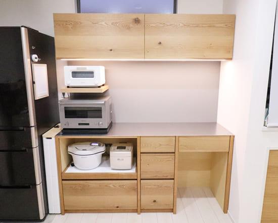調理家電に合うするオーダー食器棚(カップボード)